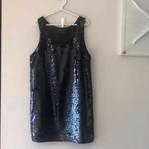 NWOT French Connection Black Sequin Dress